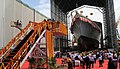 Defence Minister Rajnath Singh launches Yard 12651 (NILGIRI) at Mumbai (1).jpg