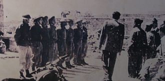 Deir Yassin massacre - Jewish military briefing at Deir Yassin