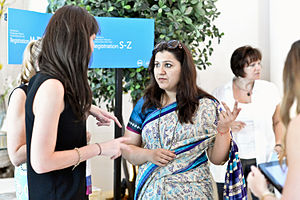 Women in the workforce - An information technology networking social for potential entrepreneurs. New Delhi, India.