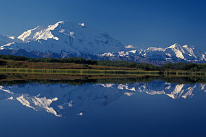 Denali (Mt. McKinley) from Reflection Pond in ...
