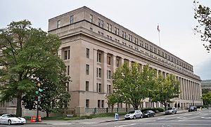 Exterior shot of the United States Department ...