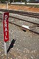 Derail device on a siding off the Yanco–Griffith railway line near Leeton Railway Station (1).jpg
