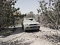 Destroyed car in the south of Sanaa 12-6-2015-2.jpg