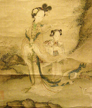 Queen Mother of the West - Image: Detail of Xie Wenli's painting of Xi Wangmu