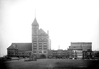 Central Station (Chicago terminal) - Illinois Central Depot, circa 1901