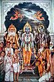 Devlok the great gods of the Hindu pantheon bless the leaders of the Independence movement.jpg