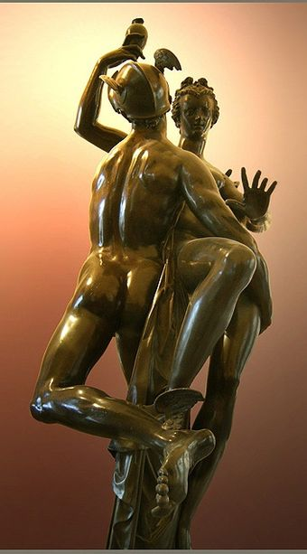 Adriaen de Vries, Mercury and Psyche in life-size bronze, made in 1593 for Rudolf. Devries-mercuriocrop.jpg