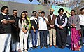 "Dharmendra Pradhan addressing at the ""Saksham Cyclothon"" program, to create awareness on petroleum conservation through cycling among people.jpg"
