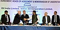 Dharmendra Pradhan at the signing ceremony of the agreements and MoUs between Rosneft and Indian consortium of Oil India Limited, Indian Oil Corporation Ltd, Bharat PetroResources and between Rosneft and ONGC Videsh Ltd.jpg