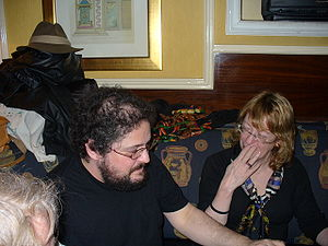 Diane Duane - Diane Duane (right) and Charles Stross in Dublin