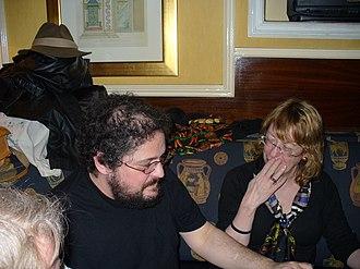 Diane Duane - Diane Duane (right) and Charles Stross in Dublin