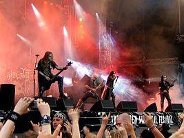 Dimmu Borgir performing in 2005.