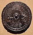 Dinastia tang, specchio con tartaruga, musici e una fenice, 790 dc ca.jpg