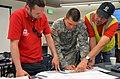 Discussing floodfight operations in Minot, North Dakota.jpg