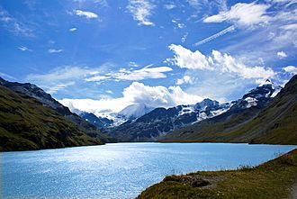 Swiss Alps - The Lac des Dix in Valais