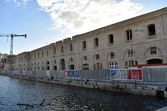 American University of Malta - Renovation works at the Cospicua campus in November 2016