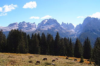 Brenta group - Brenta Group mountain range.
