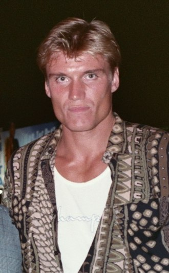 Dolph Lundgren - Lundgren at the Air America premiere in 1990