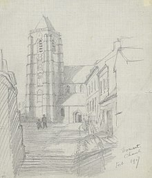Domart Church, February 1917 Art.IWMART4867.jpg