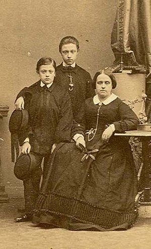 Princess Januária of Brazil - Januária with her sons Luigi and Filippo, c. 1857.