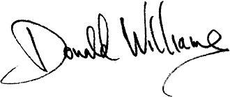 Donald Cary Williams - Image: Donald cary williams signature