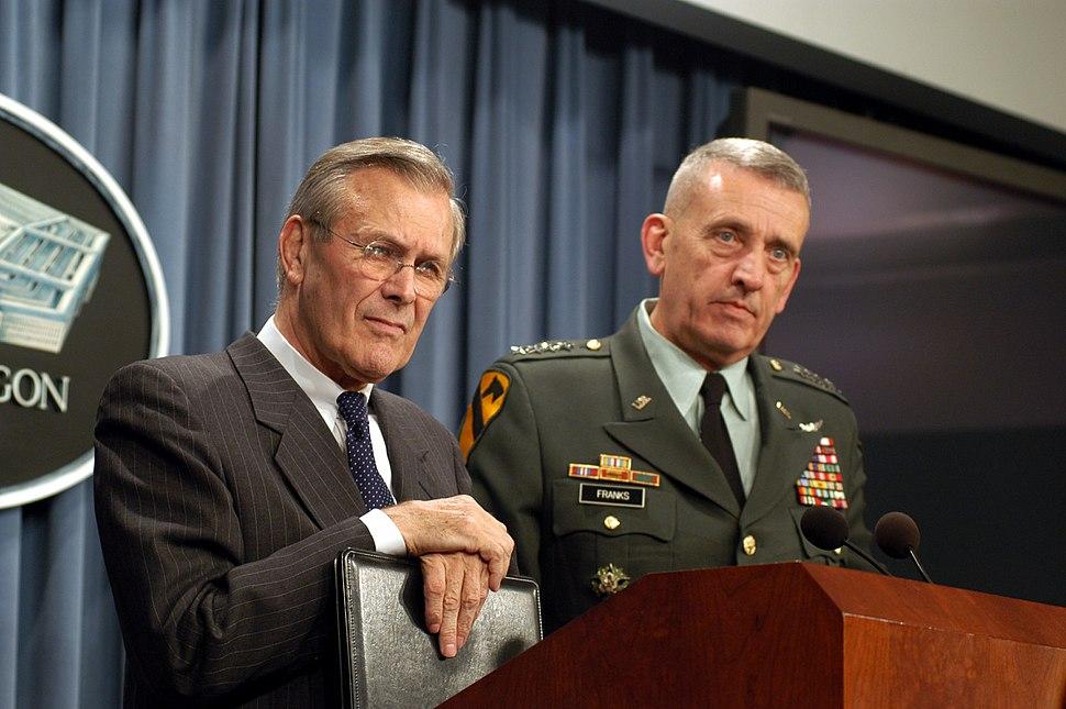 Donald Rumsfeld Tommy Franks