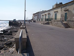 Donnalucata - View of the seafront promenade