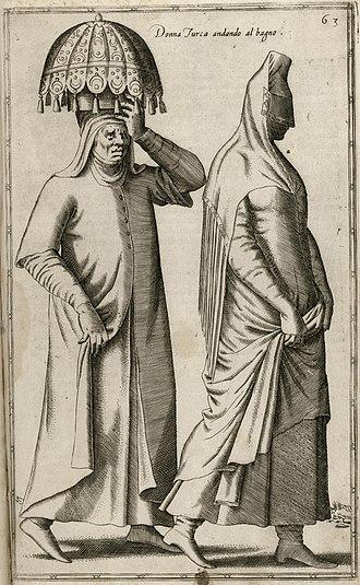 Nicolas de Nicolay - Image: Donna Turca andando al bagno Nicolay Nicolas De 1580