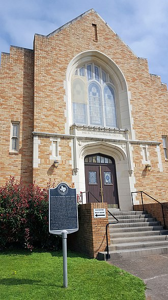 Trinity, Texas - Image: Dorcas Wills Memorial Baptist Church est. shot