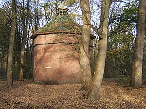 Lytham Hall - Dovecote in trees at rear