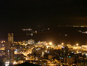 Downtown Haifa, Israel at night.jpg