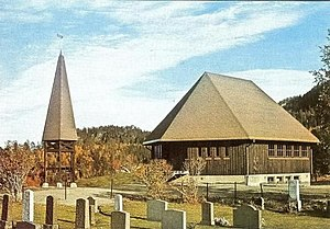 Drageid Church - Image: Drageid kapell fra RA