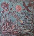Draumur Þorsteins Egilssonar - batik, silki - Isni 2001-09.jpg