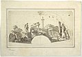 Drawing, Design for a Fan- Capriccio with Roman Ruins and the Farnese Hercules, ca. 1750 (CH 18550887).jpg