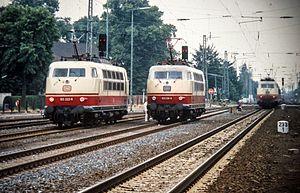 DB Class 103 - DB class 103 in Bremen-Hemelingen on 1984-07-11