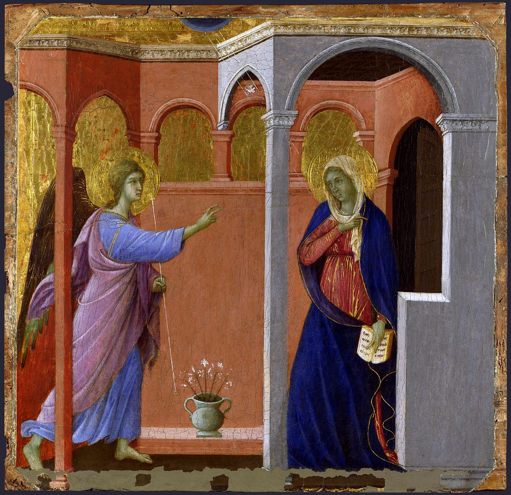 """The Annunciation"" by Duccio"