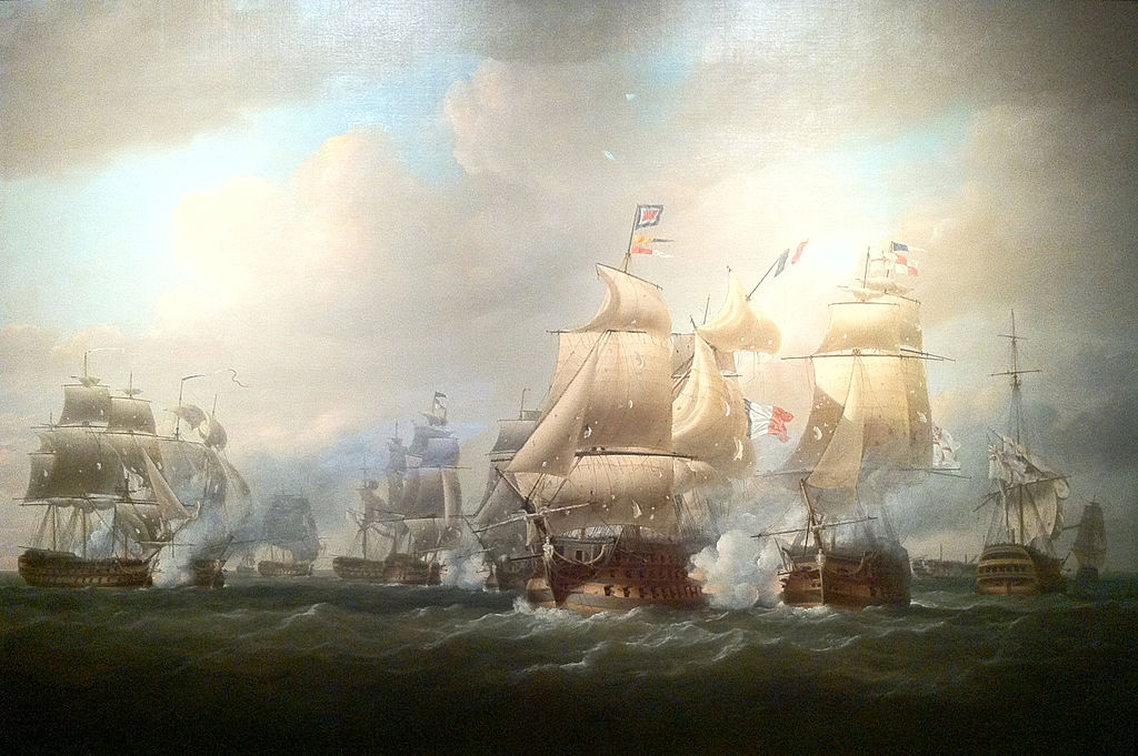 Duckworth's action off San Domingo, 6 February 1806, Nicholas Pocock.jpg