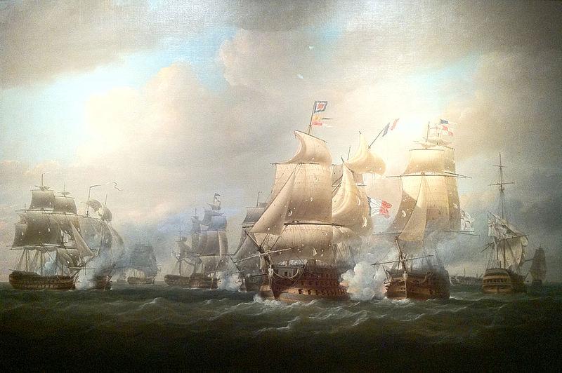 File:Duckworth's action off San Domingo, 6 February 1806, Nicholas Pocock.jpg