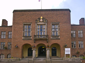 Dudley - Dudley Council House, seat of Dudley Metropolitan Borough Council