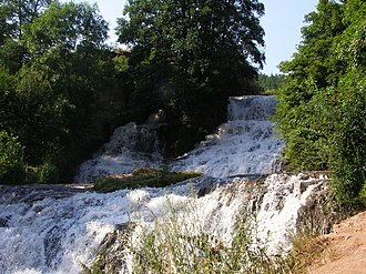 Ternopil Oblast - Dzhuryn Waterfall, one of the highest in Ukraine.
