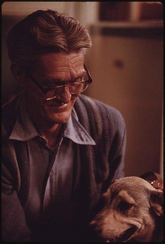 Clothier, West Virginia - Image: EDGAR ZORNES OF CLOTHIER, WEST VIRGINIA, NEAR MADISON WITH HIS DOG. A MINER FOR 23 YEARS, HE HAS BLACK LUNG. DOCTORS... NARA 556421