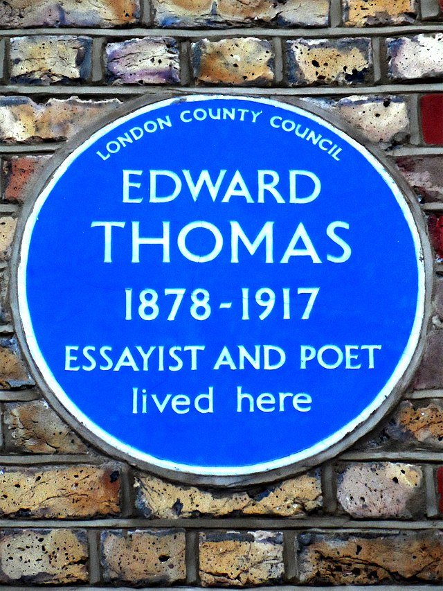 Photo of Edward Thomas blue plaque