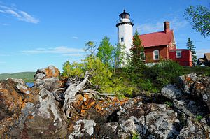 Eagle Harbor, Michigan - The Eagle Harbor Light located within Eagle Harbor