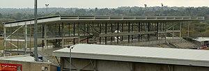 Sixfields Stadium - Incomplete East Stand at Sixfields Stadium on 16 October 2015