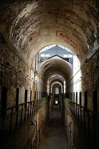 Eastern State Penitentiary - One of the two story cell blocks in Eastern State Penitentiary