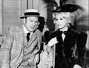 "Green Acres - Eddie Albert and Eva Gabor in episode ""The Old Trunk"" (1969)"