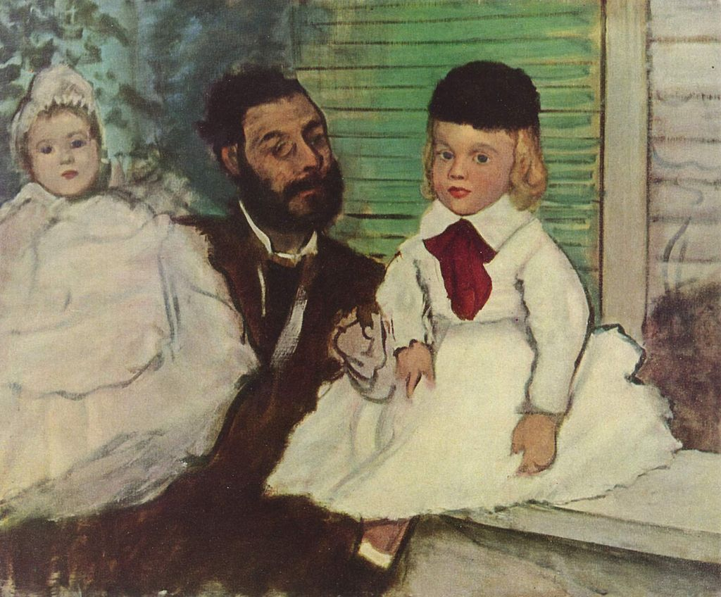 """Count Lepic and His Daughters"" by Edgar Degas"