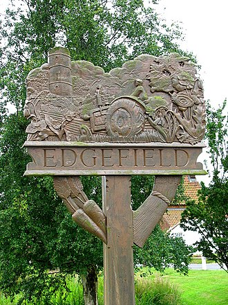 Edgefield, Norfolk - Image: Edgefield Village sign