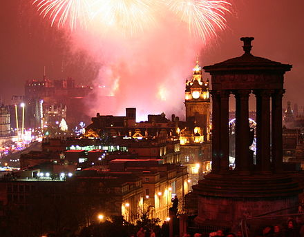 Hogmanay fireworks in Edinburgh. EdinburghNYE.jpg