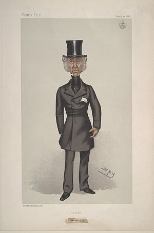 "Edward Douglas-Pennant, 1st Baron Penrhyn - ""Slate"". Caricature by Spy published in Vanity Fair in 1882."
